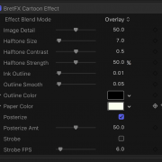 Cartoon Effect Controls