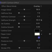 Cartoon Effect Controls