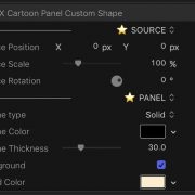 Cartoon Panel Custom Shape controls