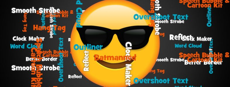 Word Cloud circling emoji