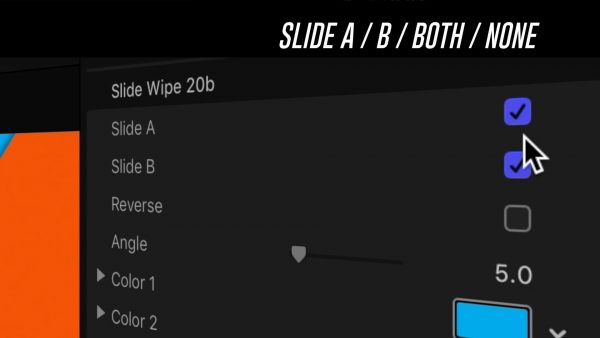 Slide A or B - Slide Wipes Final Cut Pro plugin