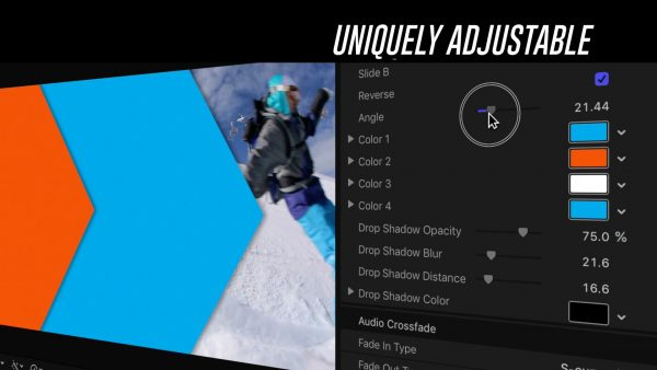 Adjustable transition - Slide Wipes Final Cut Pro plugin